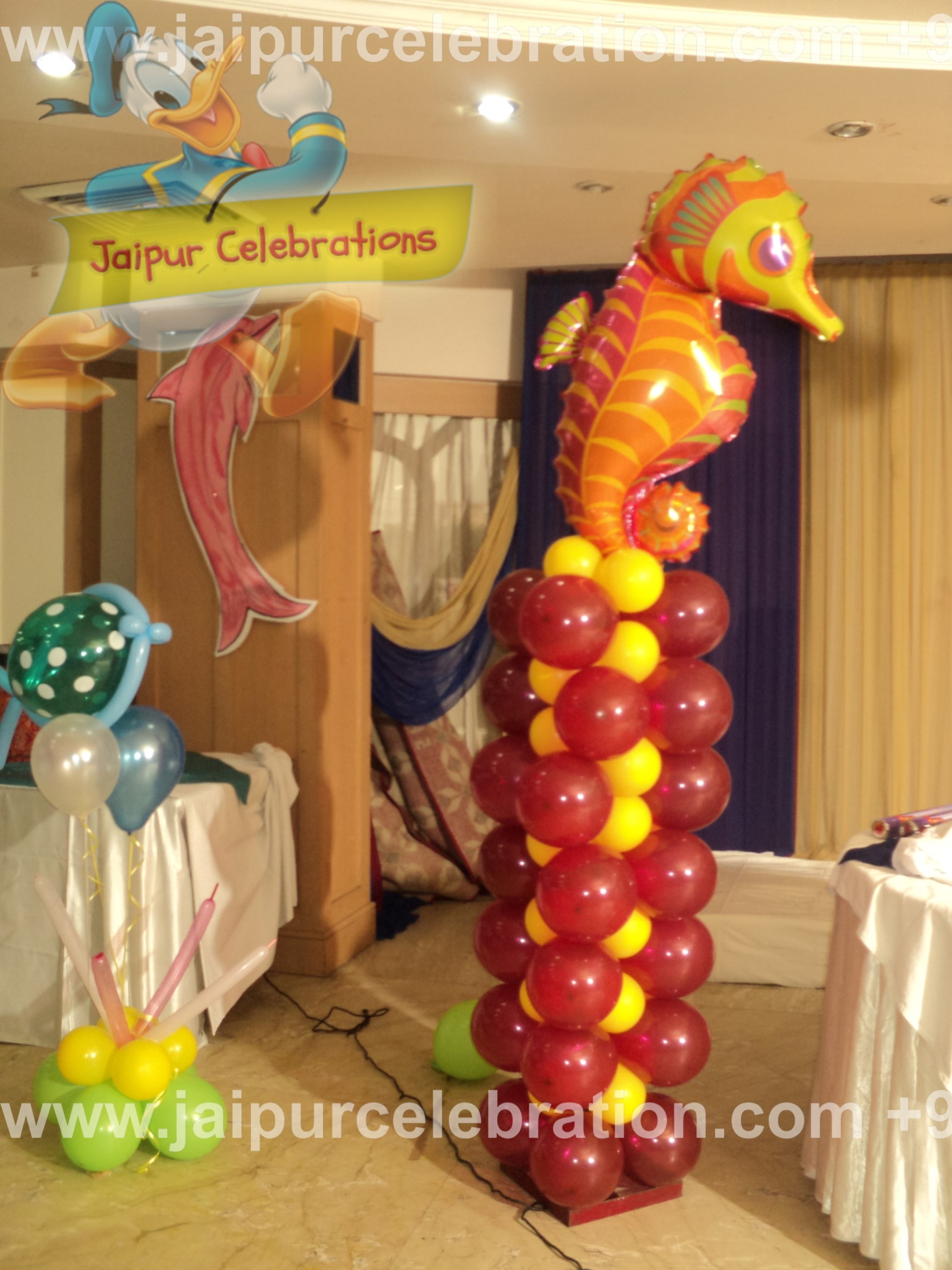 as per under water theme with anagram super shape foil balloons 28 inch