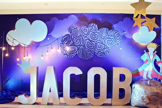 backdrop photo shoot cum cake table as prince theme