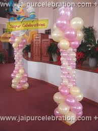 balloons structure piller with Latex balloon