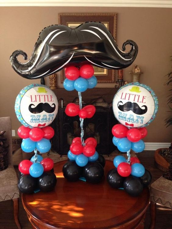 foil balloons column